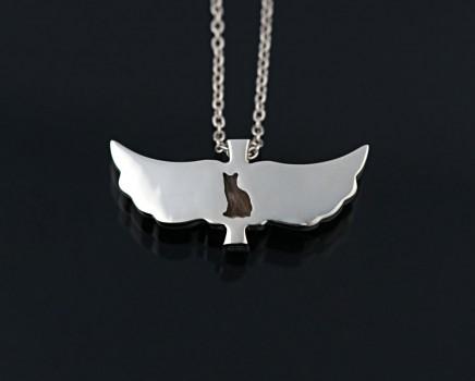 cross wing pendant