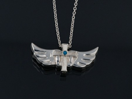 cross wing pendant
