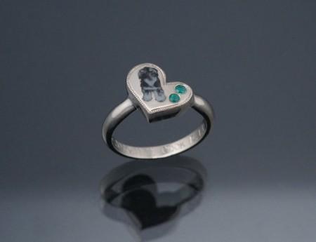 Heart Ring (毛模様彩色)